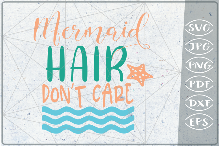 Mermaid hare dont care SVG Cutting File - Summer SVG Cuttin