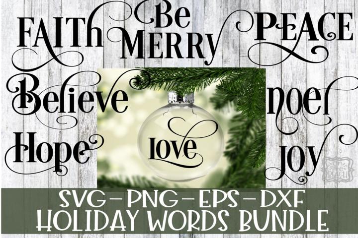 Holiday Christmas Words Bundle