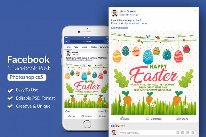 Easter Facebook Post Banner