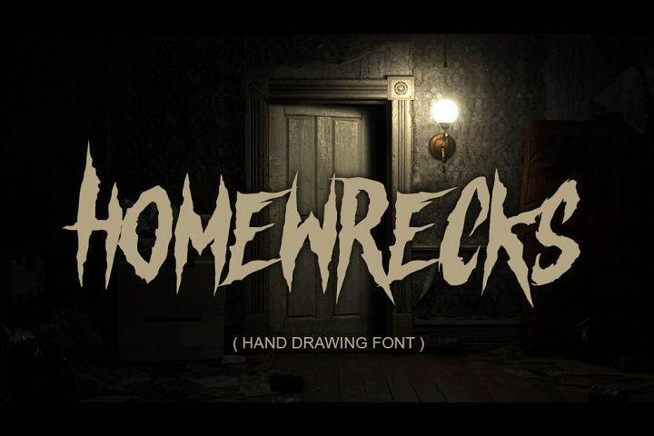 HOMEWRECKS - horror metal font -