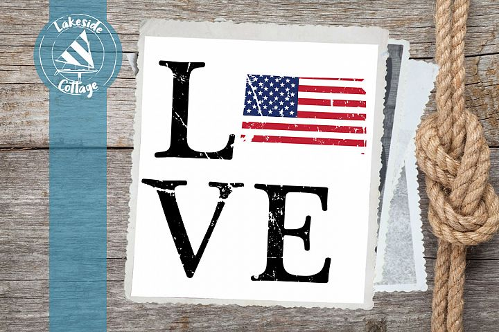 LOVE South Dakota - 4th of july svg - memorial day svg dxf