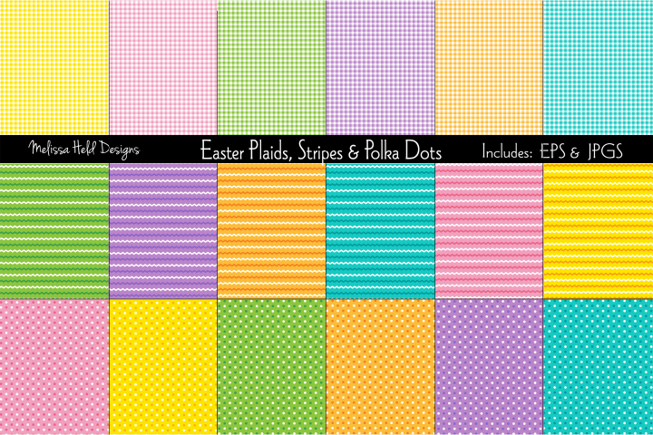 Easter Plaids, Stripes & Polka Dots
