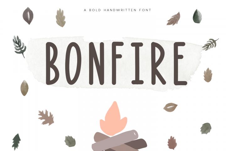Bonfire - A Bold Handwritten Font - Free Font of The Week Font
