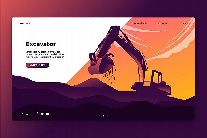 Excavator - Banner & Landing Page