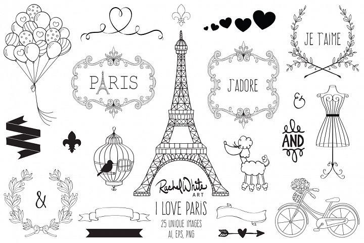 I Love Paris - Free Design of The Week Design 1