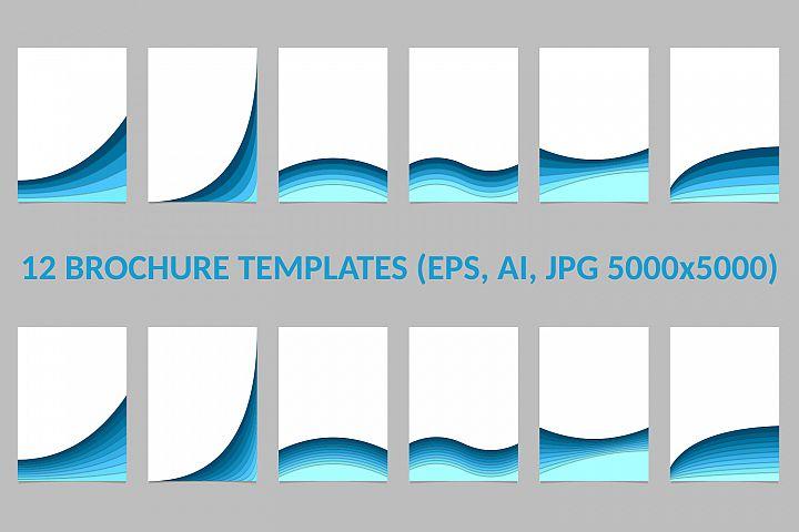 12 Brochure Templates AI, EPS, JPG 5000x5000