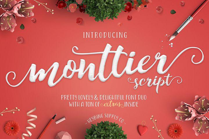 Monttier Script Font Duo