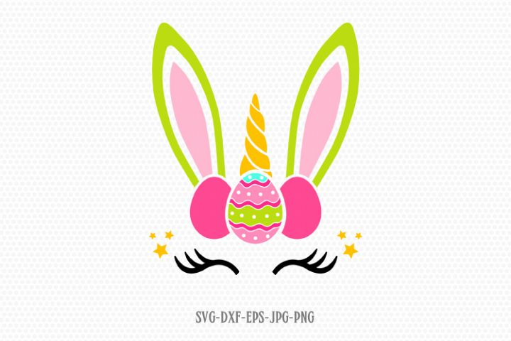 easter bunny unicorn svg