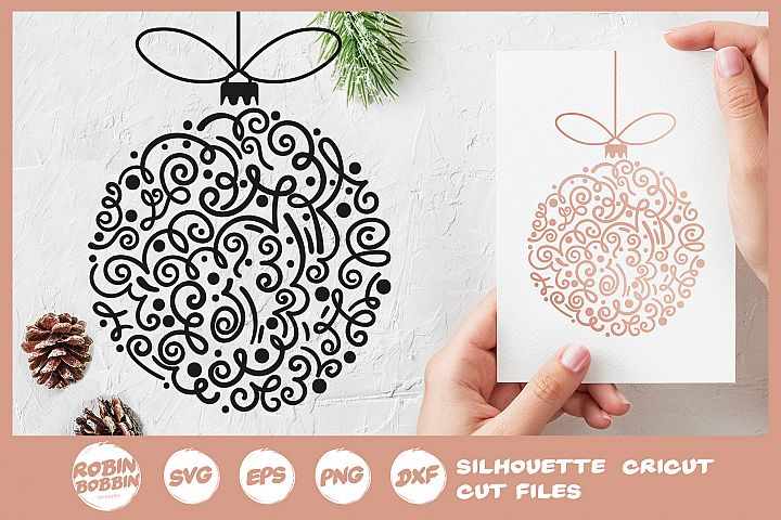 Christmas Toy SVG - Hand Drawn Christmas Tree Toy SVG