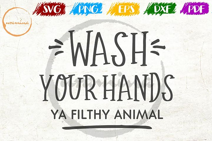 Wash Your Hands Bathroom SVG PDF PNG