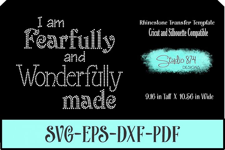 Faith Rhinestone SVG Template - Fearfuly and Wonderfully Mad