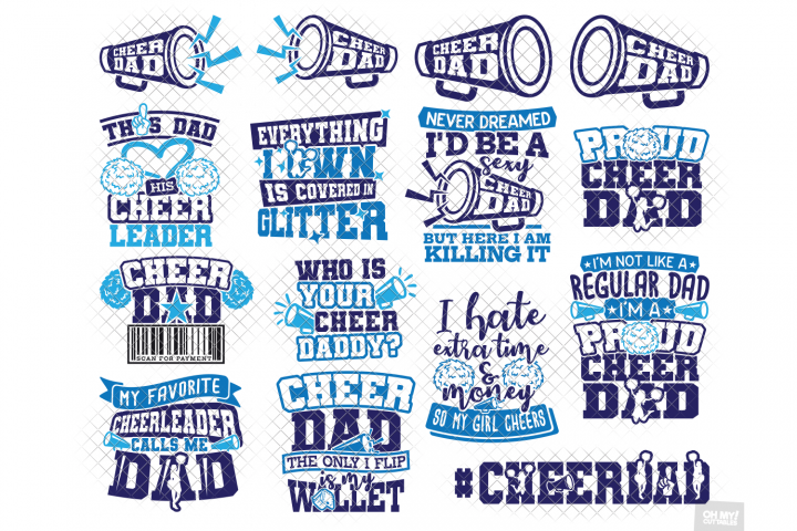 Cheer Dad SVG in SVG, DXF, PNG, EPS, JPG