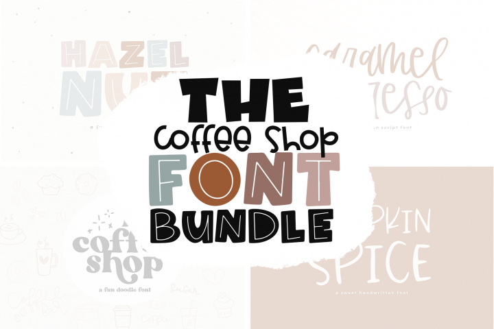 The Coffee Bundle - 6 Fun & Quirky Fonts