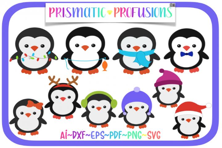 Winter Penguins, Winter Penguins SVG, Penguin SVG