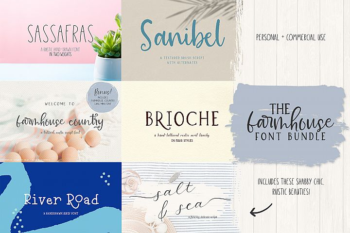 The Farmhouse Font Bundle by Beck McCormick