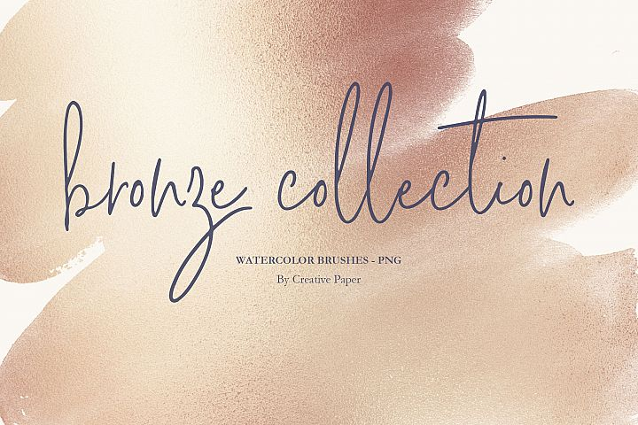 Bronze Watercolor Brushes PNG Backgrounds