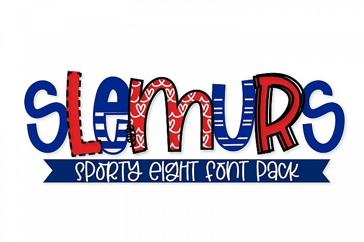 Slemurs - A Sporty Eight Font Mix & Match Bundle