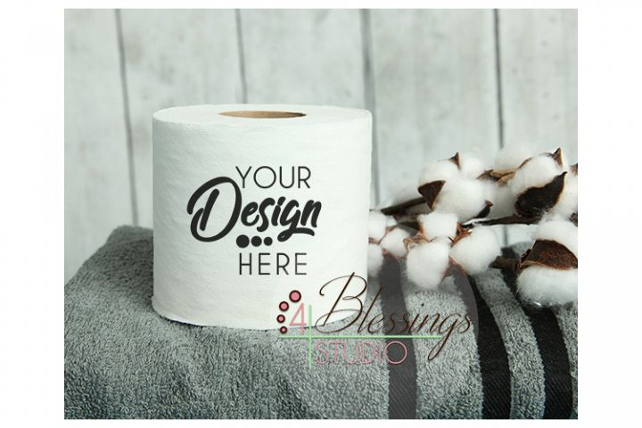 Toilet Paper Mockup Blank Toilet Paper Roll Product Photo