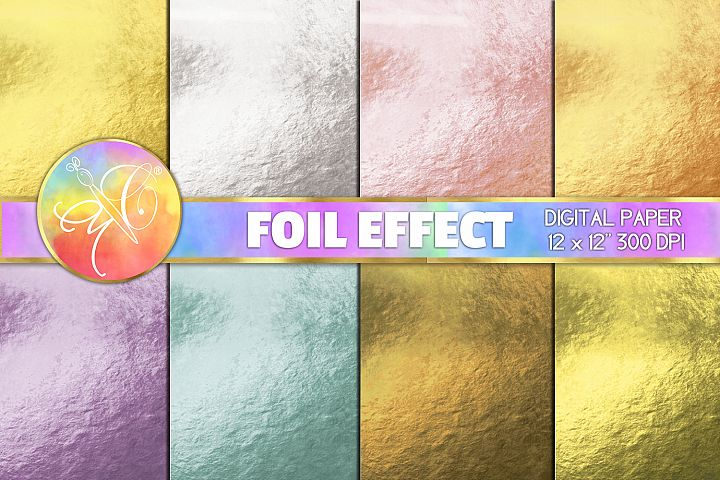 Foil Effect Digital Paper, Digital Background