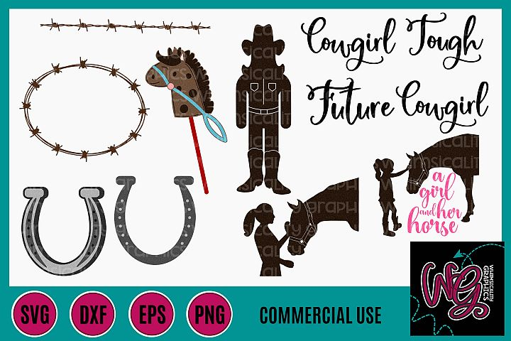 Cowgirl Bundle SVG DXF PNG EPS Comm