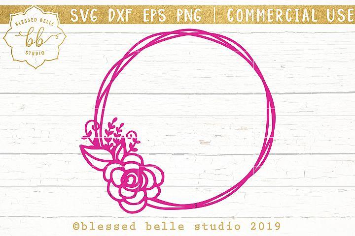 floral frame SVG DXF EPS PNG
