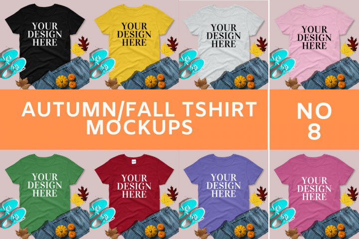 Autumn/Fall T shirt Mock-ups - 8
