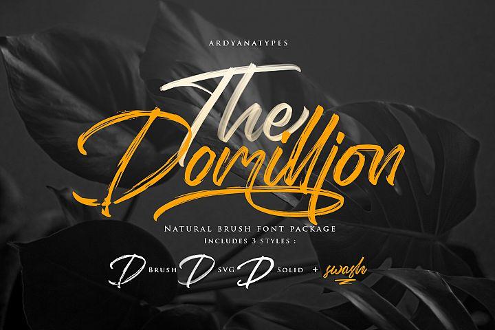 Domillion Brush Font