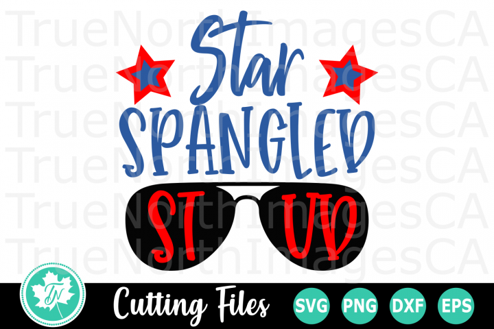 Star Spangled Stud - American SVG Cut Files