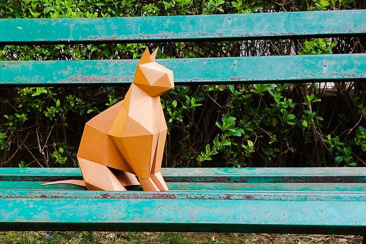 DIY Paper cat - 3d papercraft