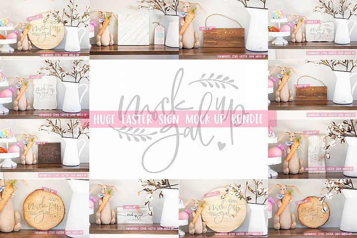 HUGE Easter Sign Mock Up Bundle -18 Images!
