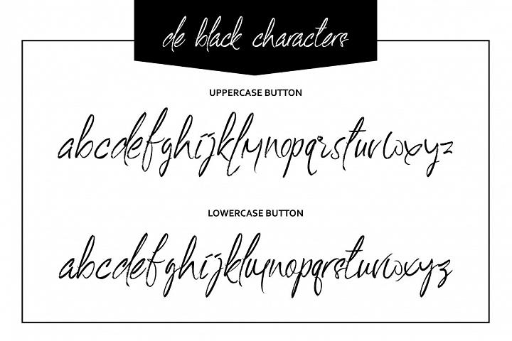 De Black Typeface example image 4