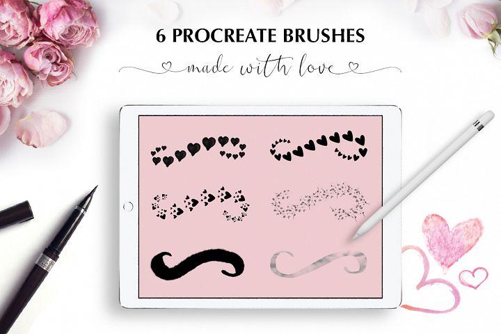 Valentine's Font Bundle with 6 Free Procreate Brushes example image 11