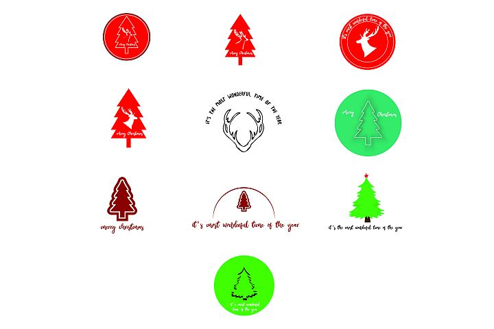 AA37- Merry Christmas 10 Designs Bundle SVG Cut File