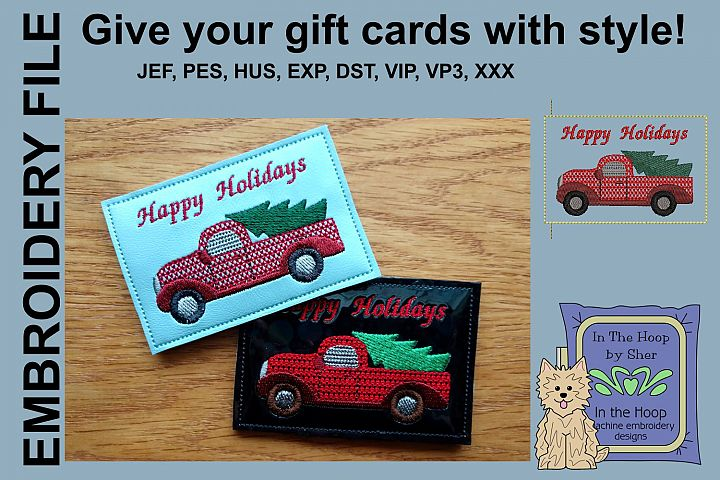 ITH Christmas Truck Gift Card Holder