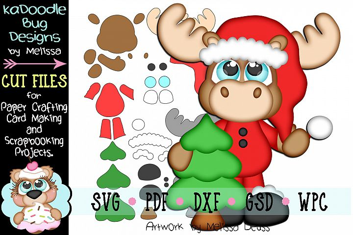 Christmas Tree Moose Cut File - SVG PDF DXF GSD WPC