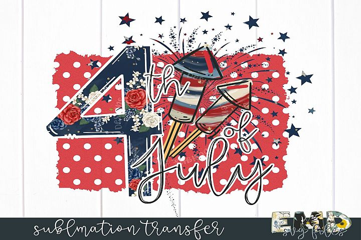 4th Of July Sublimation Transfer