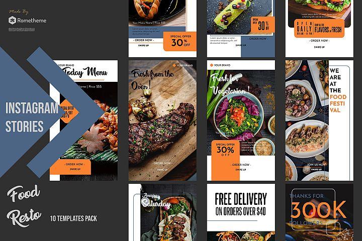 Food Restaurant Instagram Stories vol. 02