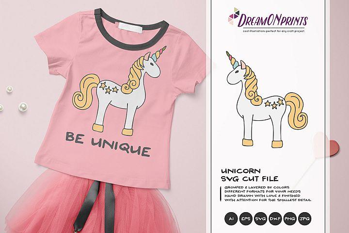 Unicorn SVG - Vector Unicorn SVG Cut File