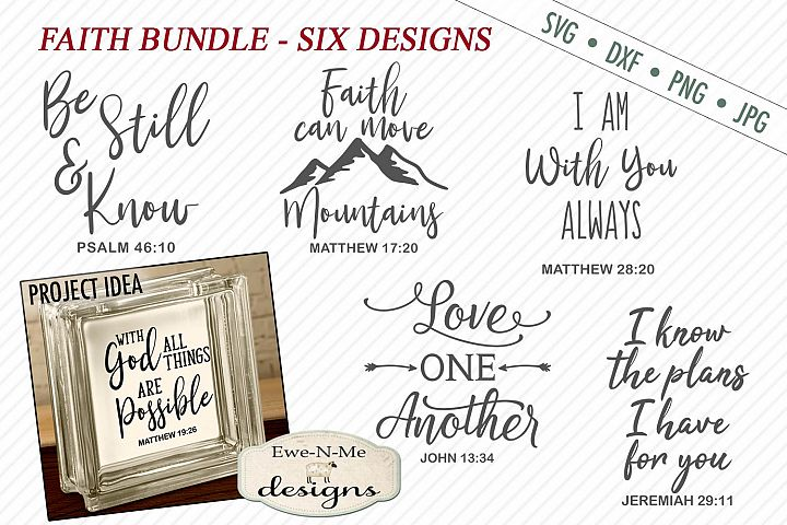Faith SVG Bundle - Scripture SVG - Bible Verse - SVG DXF