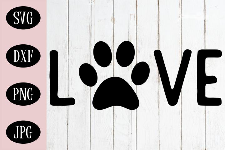 Love Dog Paw SVG | Dog Lover SVG | Dog Paw SVG