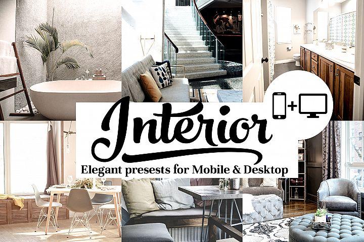 Interior Presets - Lightroom mobile and Desktop