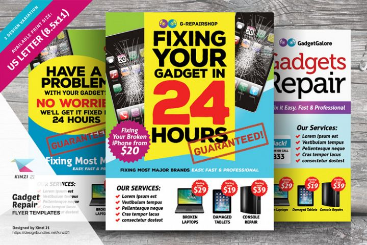 Gadget Repair Flyer Templates