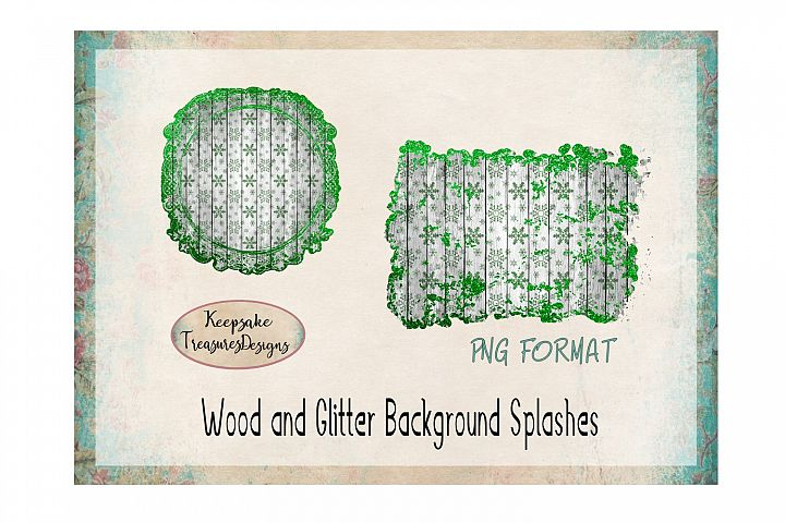 Wood and Glitter Background Splashes