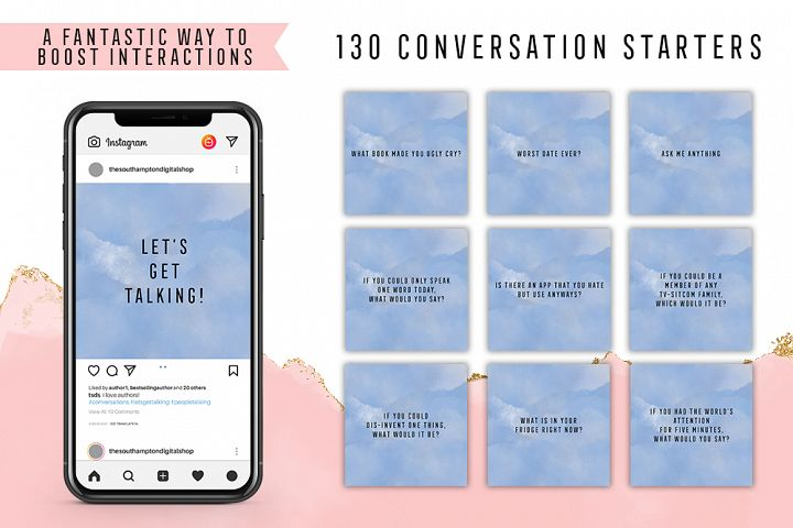 130 Social Media Conversation Starters Version 17