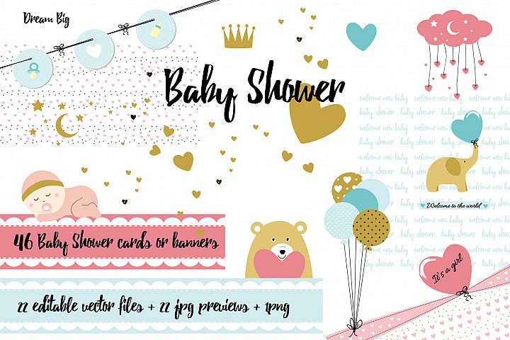 Baby Shower - cards and banners