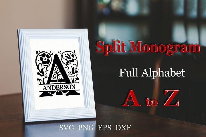 26 Split monogram SVG Engagement svg Wedding font