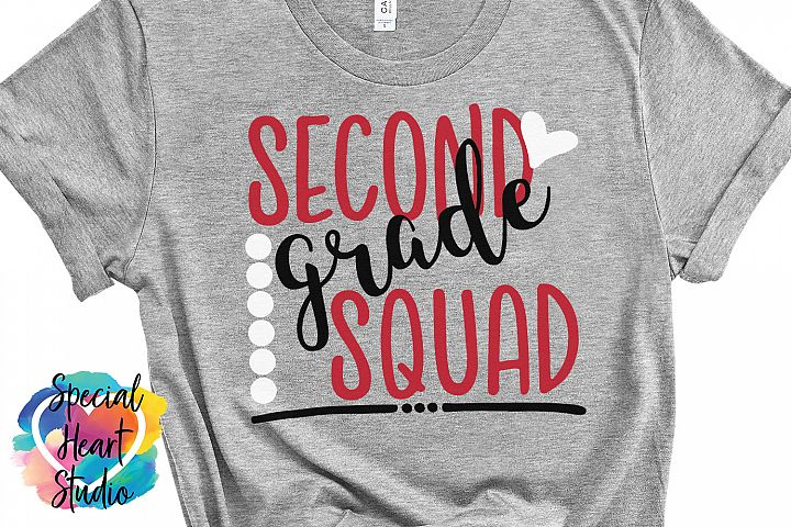 Second Grade Squad - A cool school or teacher SVG