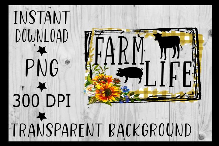 Farm Life Clipart, PNG, Digital Download