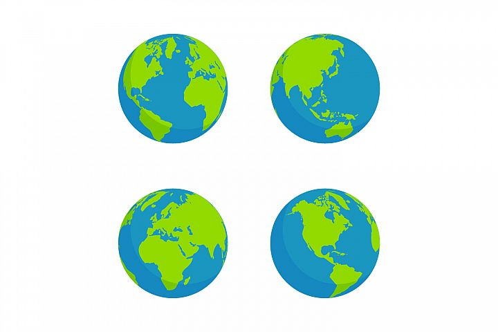 design collection of globes