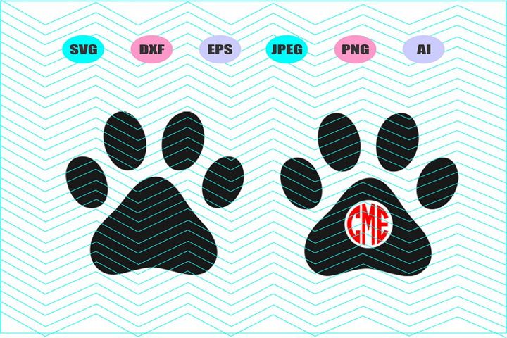 Dog Paw Svg Vector File Silhouette Cricut Design Vinyl Decal